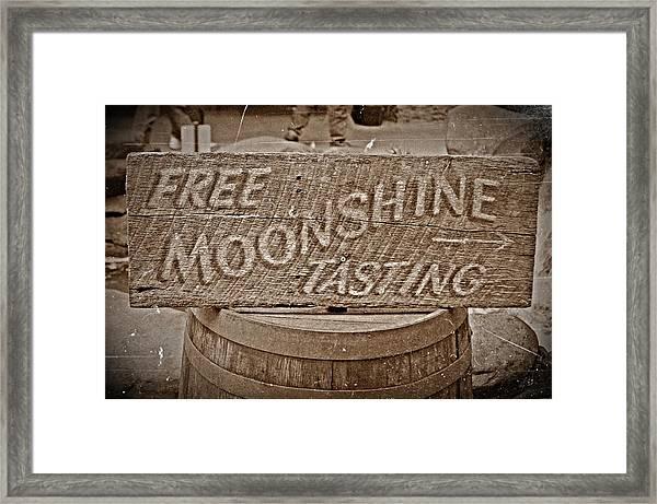 Free Moonshine Framed Print