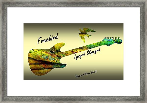 Framed Print featuring the painting Freebird Lynyrd Skynyrd Ronnie Van Zant by David Dehner