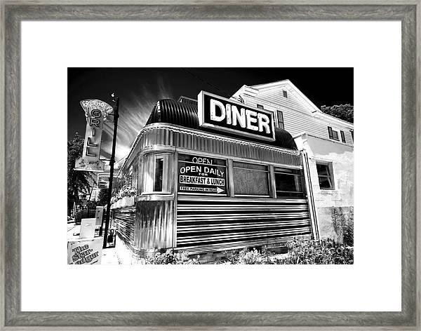 Freehold Diner New Jersey Framed Print