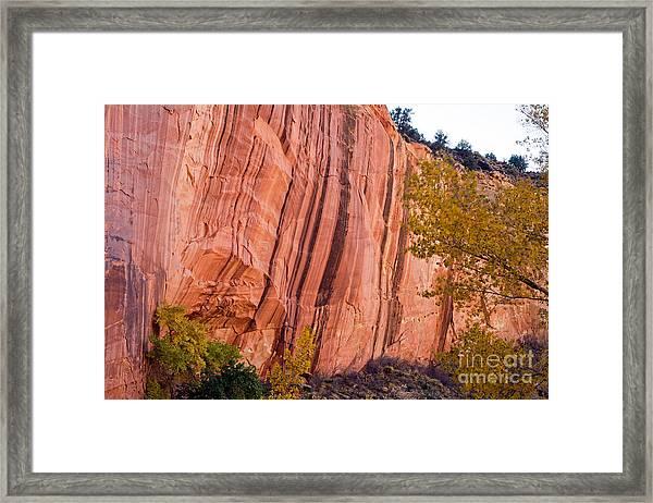 Fremont River Cliffs Capitol Reef National Park Framed Print