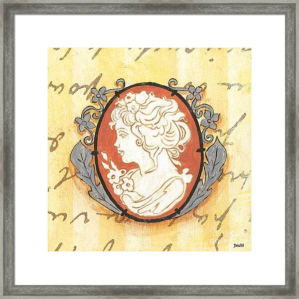 French Cameo 2 Framed Print