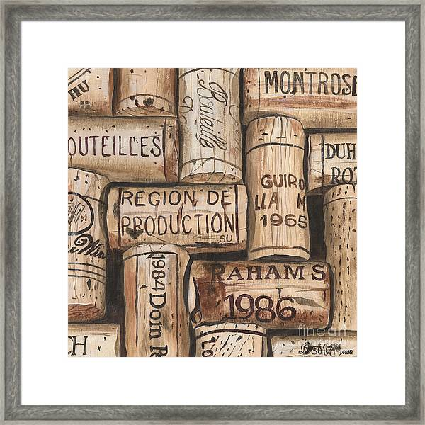 French Corks Framed Print