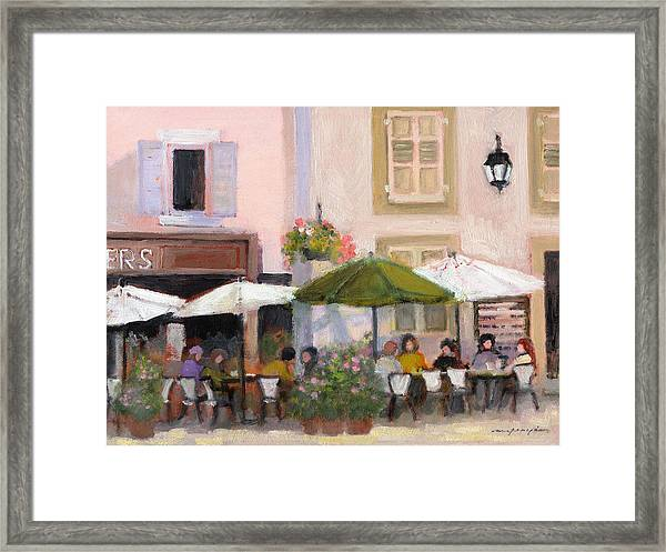 French Country Cafe Framed Print