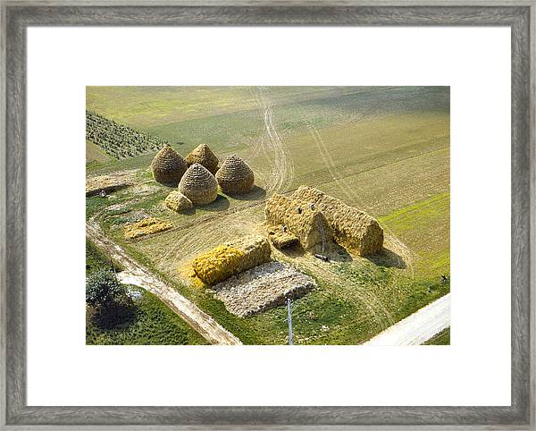 French Haystacks Framed Print