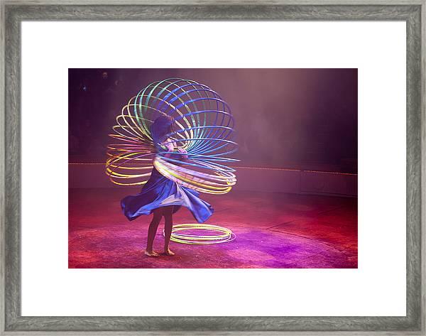 French Hula Hooping Framed Print