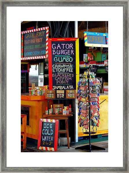 French Market New Orleans Framed Print