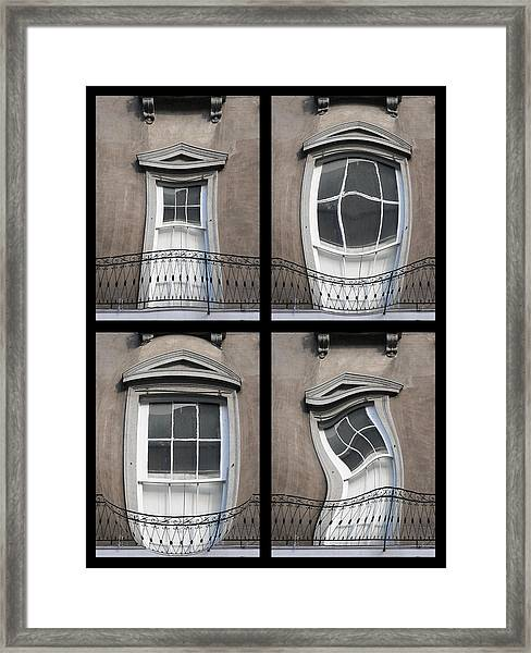 French Quarter Distorted Door Framed Print