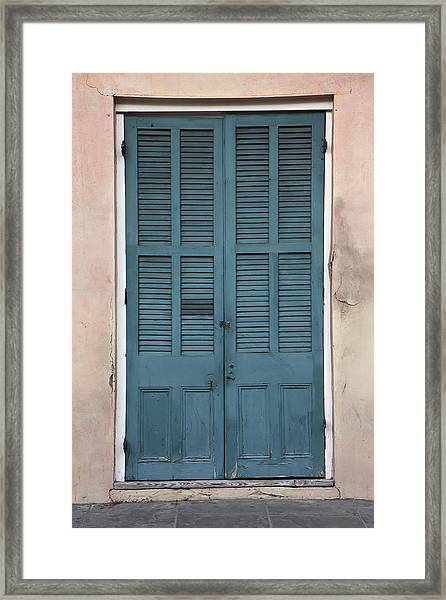 French Quarter Doors Framed Print