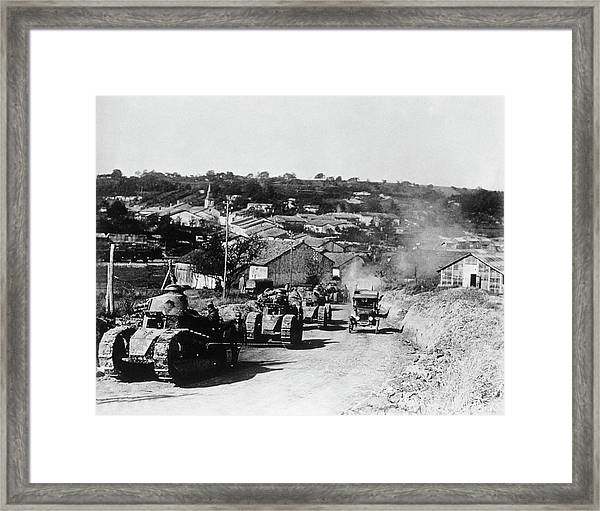 French Tanks Framed Print by Library Of Congress/science Photo Library