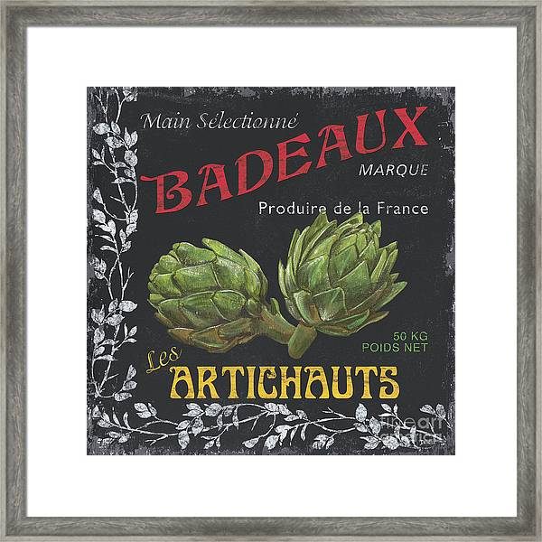 French Veggie Labels 1 Framed Print