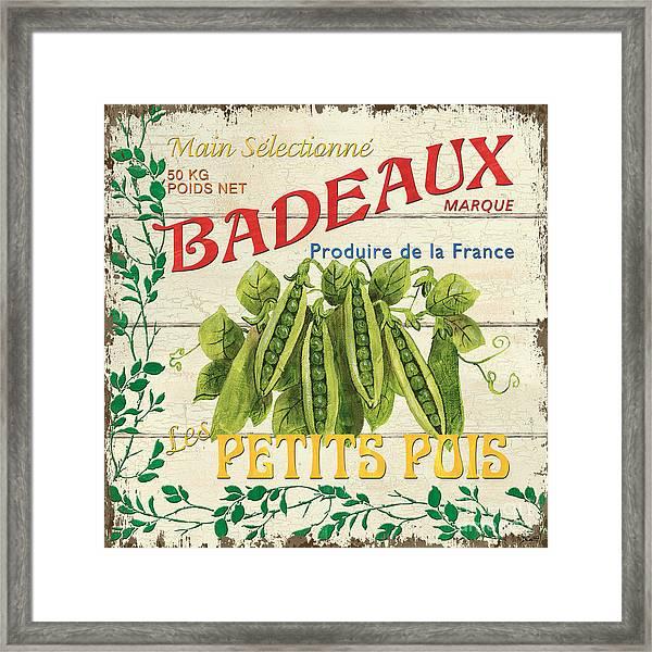 French Veggie Sign 1 Framed Print