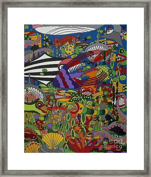 Frenzy Framed Print