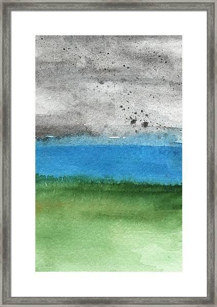 Fresh Air- Landscape Painting Framed Print