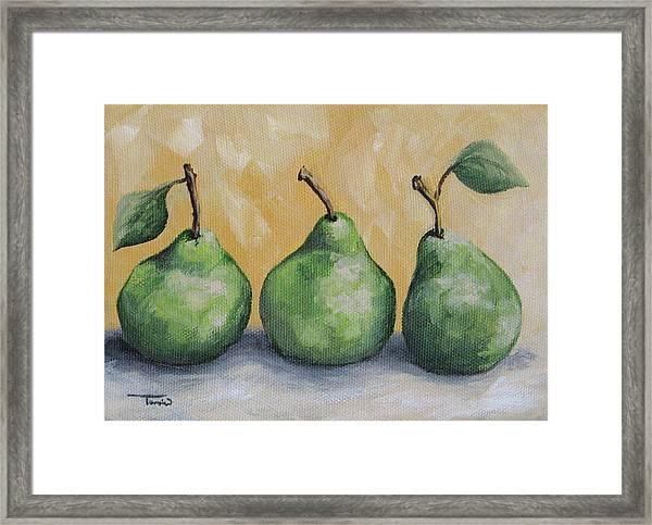 Fresh Green Pears Framed Print