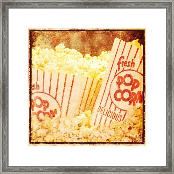 Fresh Hot Buttered Popcorn Framed Print