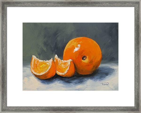 Fresh Orange IIi Framed Print