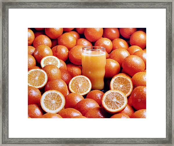 Fresh Orange Juice Framed Print