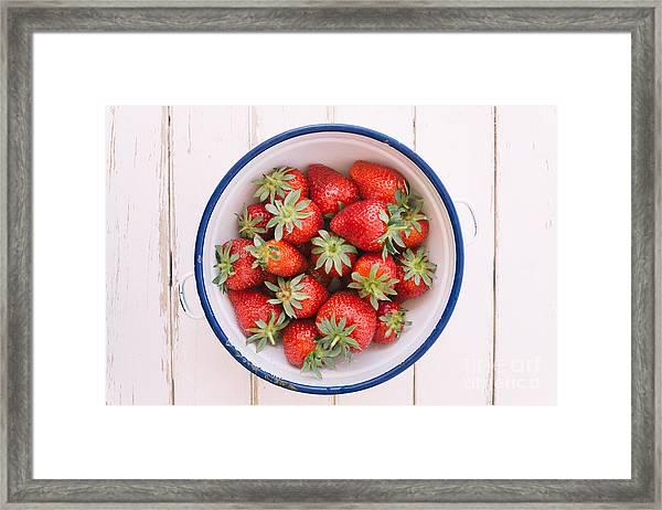 Fresh Strawberries  Framed Print