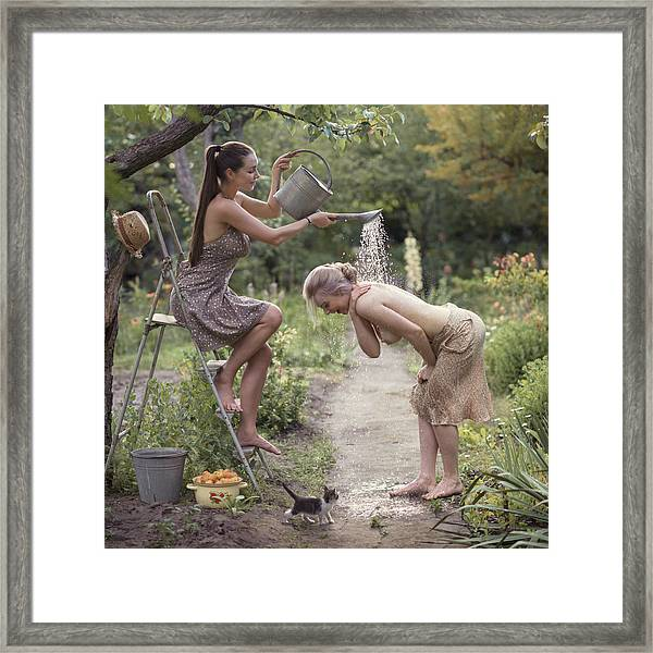 Fresh Summer Shower Framed Print