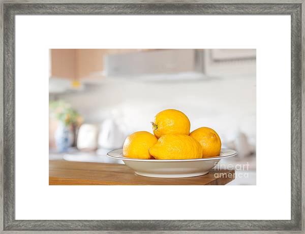 Freshly Picked Lemons Framed Print