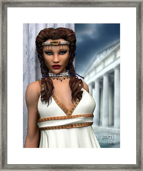 Freya Framed Print by Sandra Bauser Digital Art