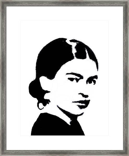 Frida Black And White Framed Print