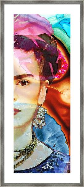 Frida Kahlo Art - Seeing Color Framed Print