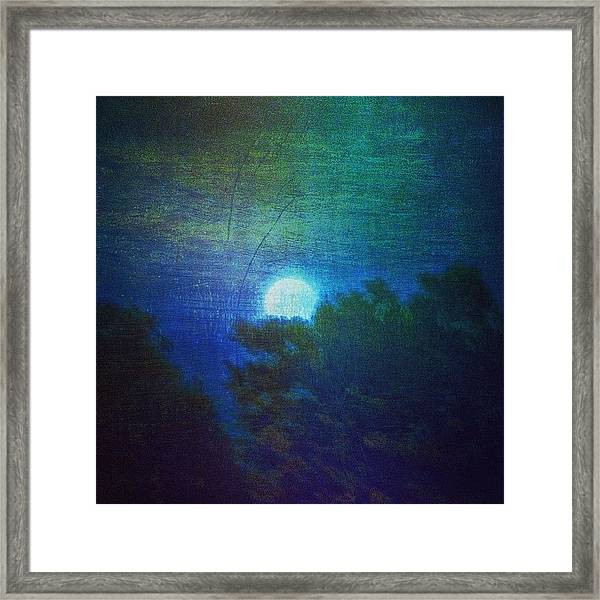 Friday 6/13/14 Full Moon - The Honey Framed Print
