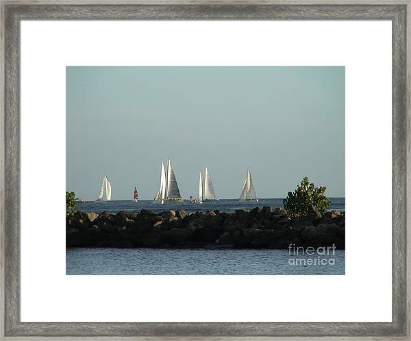 Friday Night Races Framed Print