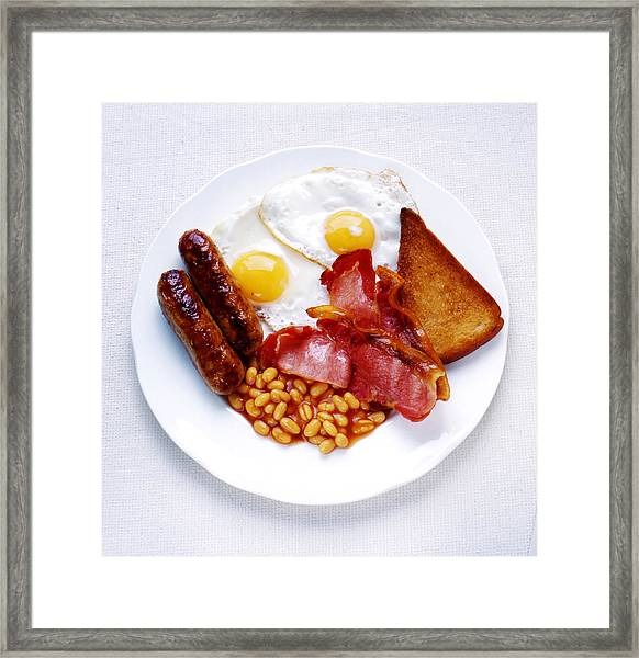 Fried Breakfast Framed Print by Joy Skipper