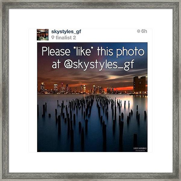 Friends, My Photo Is In The Framed Print