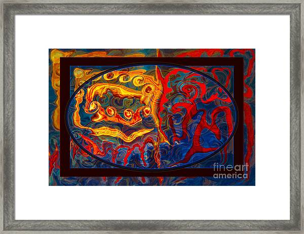 Friendship And Love Abstract Healing Art Framed Print