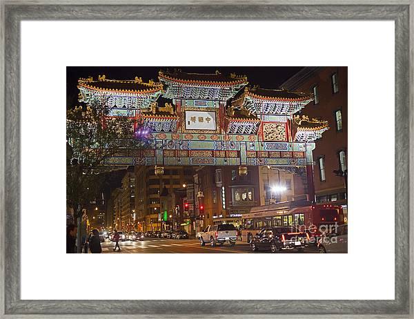 Friendship Archway In Chinatown Framed Print