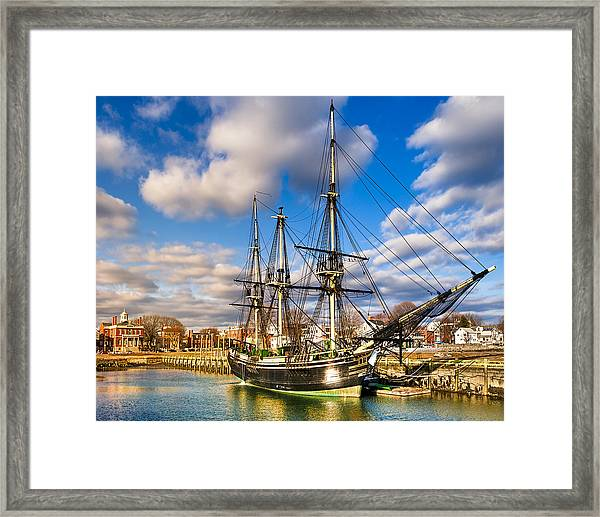 Friendship Of Salem At Harbor Framed Print
