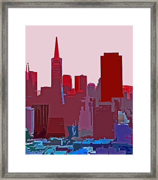 Frisco Skyline Framed Print
