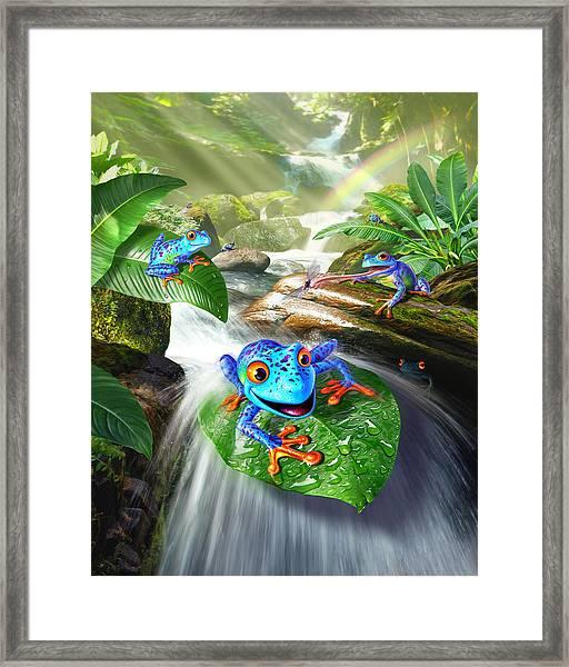 Frog Capades Framed Print