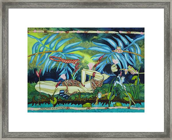 Frog Pose With Attitude Framed Print