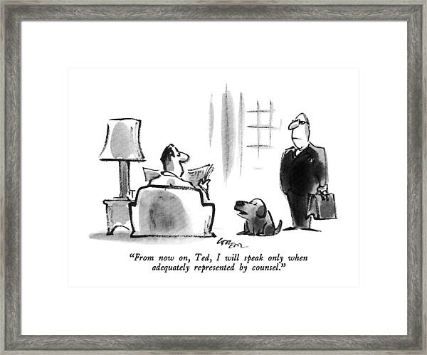 From Now Framed Print