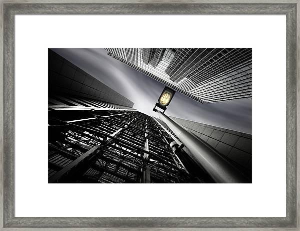 From Steel Gridded Nadir Framed Print