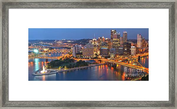 From The Fountain To Ft. Pitt Framed Print
