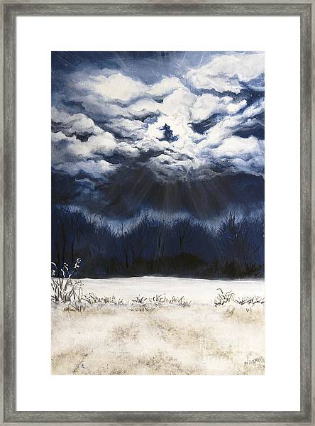 From The Midnight Sky Framed Print