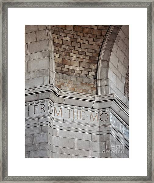 From The Moral... Framed Print