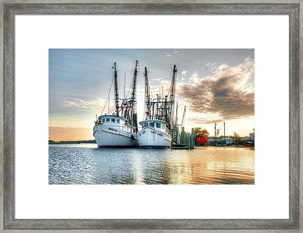 Front Of The Line Framed Print