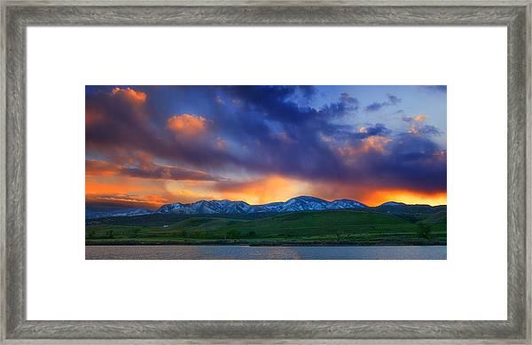 Front Range Light Show Framed Print