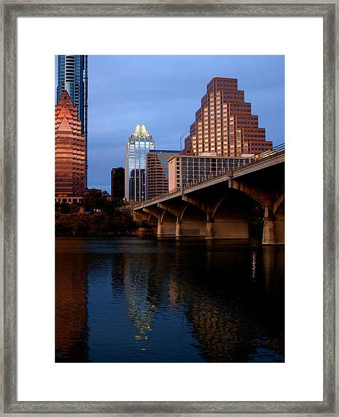 Frost Across The River Framed Print
