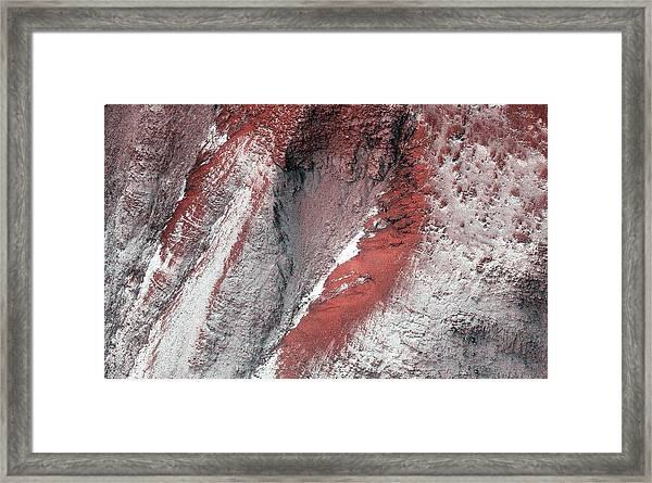 Frost On Mars Framed Print