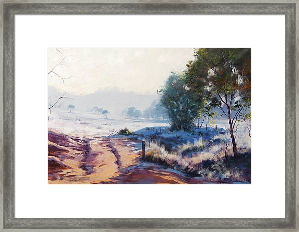 Frosty Winter Light Framed Print