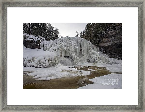 Frozen Blackwater Falls Framed Print