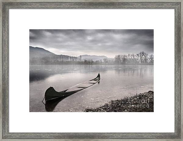 Frozen Day Framed Print