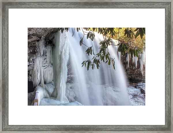 Frozen Dry Falls Framed Print
